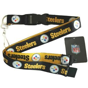 Pittsburgh Steelers NFL Keychain Lanyard- Two tone Color