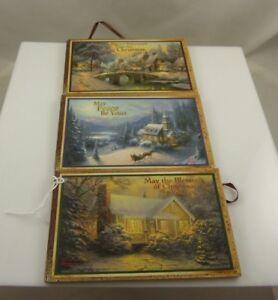 Thomas Kinkade Christmas xmas ornament Kurt S. Adler 3 different 2007 vintage