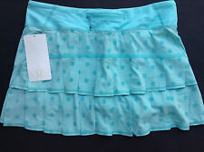 NWT Lululemon PACE SETTER REGULAR Skirt ANGEL BLUE Dots ANGL (Size 10 REG)
