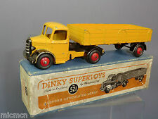 "DINKY TOYS MODEL No.521 BEDFORD ARTICULATED LORRY  ""YELLOW VERSION""  VN MIB"