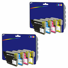 8 Inks - Compatible Printer Ink Cartridges for Brother DCP-J525W [LC1280]