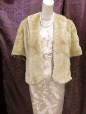 SOFTEST SHEARED MINK vintage 40s 50s stole jacket cape capelet vlv HOLIDAY!