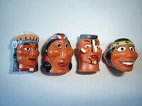 KINDER SURPRISE SET - INDIANS HEADS THIMBLES 1997 - FIGURES TOYS COLLECTIBLES