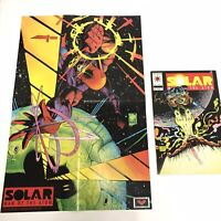 Solar Man of the Atom 17 Valiant 1993 VF 8.0 - 8.5 w/ Poster & Signed Van Hook