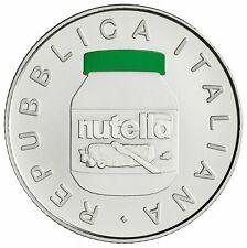 "5 Euro Argento Italia 2021 FDC "" NUTELLA ""  VERDE"