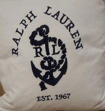 Ralph Lauren Home Lucille Decorative Throw Pillow Cream/Navy