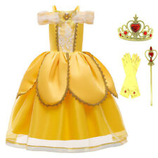 Girls Costume Beauty and the Beast Fairytale Princess Belle Dress Up Accessories