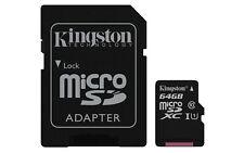 MEMORY CARD MICRO SD CON ADATTATORE SD 64GB MicroSDXC UHS-I Classe 10 memoria fl