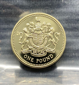2008 Royal Coat of Arms PROOF £1 pound coin Royal Mint