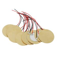 10pcs 35mm Piezo Elements buzzer Sounder Sensor Trigger Drum Disc+ wire copper