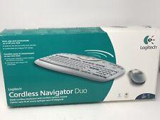 Logitech Cordless Navigator Duo Keyboard & Mouse NEW OPEN BOX