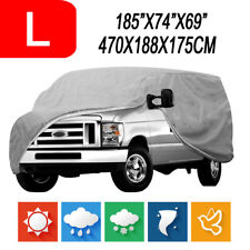 L Full Car Auto Cover for SUV Van Truck Indoor Outdoor Dust UV Snow Protection