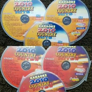 6 KARAOKE DISCS CHARTBUSTER 2010 COUNTRY (COMPLETE SET) 100 SONGS CD+G MUSIC CD