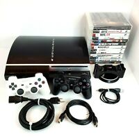 Sony PlayStation 3 PS3 80GB Console Bundle 13 Games 2 Controllers+ ChargeStation