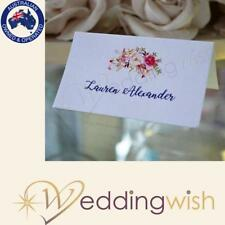 Wedding Placecards, Floral Place Cards Personalised with Guest Names