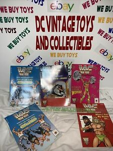 WWF WWE 1991 Valiant Action Comic book lot 5 - 21841 21842 21843 21844