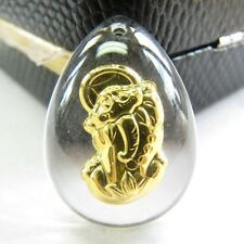 Solid 999 24K Yellow Gold & Crystal Blessing Luck Coin Pixiu Pendant Offer Clasp