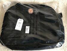 BNWT Lovely Black Silver ROXY Zip Top Travel Shopping Gym College Uni Bag RP £40