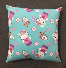 "Beautiful Handmade Hello Kitty Doctor Accent - Throw Pillow 12"" x 12"""