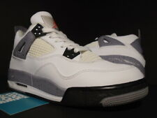 NIKE AIR JORDAN IV 4 RETRO GS OG WHITE BLACK CEMENT GREY FIRE RED 408452-103 5.5