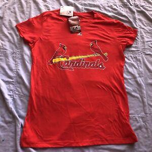 NWT Majestic Women's St Louis Cardinals David Freese #23 T-shirt Sz Small