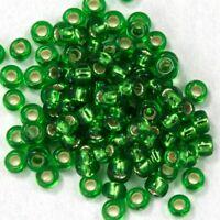 20 gm 15//0 Lined Aqua//Gold Japanese Seed Bead #JJO025