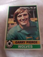 Topps Football Card 1977/1978 X Garry Pierce X Wolves X Number 281 X