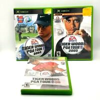 Tiger Woods Xbox PGA Tour Bundle 2003 2005 2006 EA Sports Golf 3-Game Lot