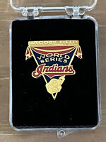 VINTAGE 1997 MLB CLEVELAND INDIANS WORLD SERIES BASEBALL PRESS PIN vs MARLINS
