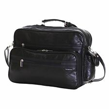 Slimbridge Kamen Leather Travel Bag Black