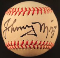 Johnny Mize Signed Autographed Unofficial Baseball New York Yankees Giants
