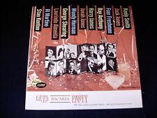"""VARIOUS ARTIST """" LETS BACARDI PARTY"""" LP RECORD ALBUM"""