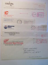 LOT OF 6  NHL TEAM ISSUED ENVELOPES CAPITALS WHALERS RED WINGS BLACKHAWKS OILERS