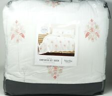 Martha Stewart Collection Reversible Floral Scroll 8-Pc Comforter Set - QUEEN