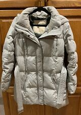 Hollister Womens Ivory Down Feather Long Coat Size Large