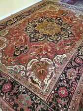 7.7 x 11.5 Antique Fine Heriz Rug Vintage Serapi Kazak Caucasian Ushak