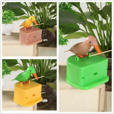 Automatic Toothpick Box Cartoon Bird Push Type Toothpick Holder Dispenser Hot