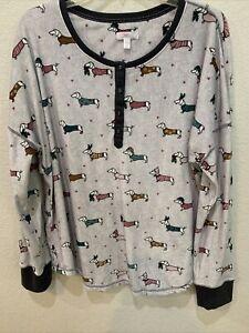Dachshund (Weenie Dog)  Print Two-Piece Pajama Set XL