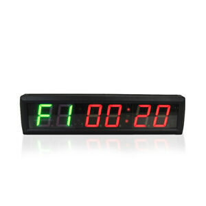 Gym Crossfit Clock Big LED Interval Timer Fitness Wall Gym Digital Stopwatch