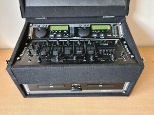 Numark Cm100 & Cdn22 Mk5 Pro Cd Player / Mixer Combo With Travel Box & Leads