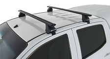 Rhino Pair of Vortex Roof Racks for TOYOTA Hilux 4dr Ute Dual Cab 2005 On Black