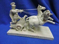 Roman Warrior Bonded Marble Chariot Figurine Caesars Palace