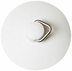 Universal Self-Seating Universal Basin or Bath Plug, 57mm (2.1/4 inch) - White