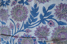 Indian 5 Yard Hand block Print Running Loose Cotton Fabric Printed Decor