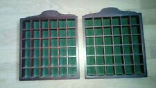 2 x 36 Hole Wooden Thimble Display Cases
