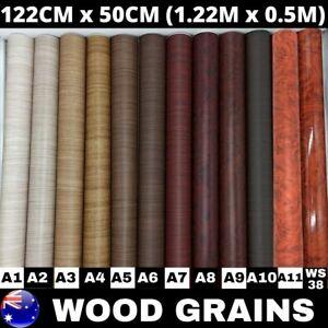 1.22M X 50CM Wood Grain Vinyl Wrap Film Sticker Kitchen Cupboard Door Furniture