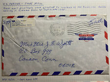 1967 US Air Force In VietNam Army PO Airmail Cover To Canaan CT USA