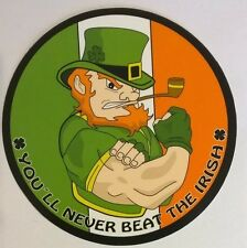 *** Fighting Irish Leprechaun - Sticker Ireland - You`ll never beat the irish **