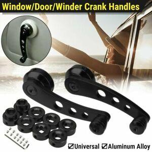 2X Black Aluminum Car Truck Manual Door Window Winders Crank Handle Universal