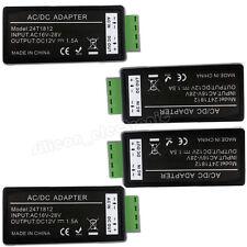 4x 24 Volt AC to 12V DC Power Converter Reducer Adaptor for CCTV Security Camera